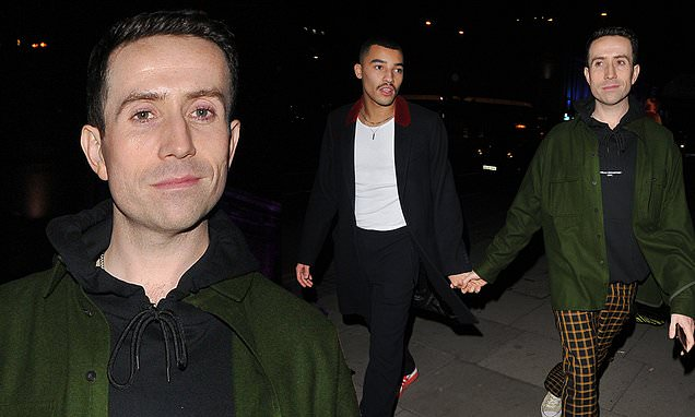 Nick Grimshaw Walks Hand-In-Hand With His Boyfriend Meshach Henry For London Fashion Week Event