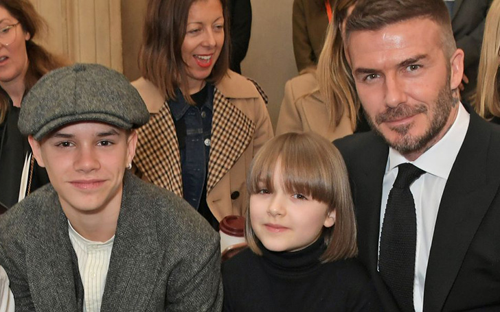 Victoria Beckham's Daughter Harper Beckham Debuts New Haircut at London Fashion Week