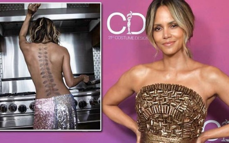 Halle Berry Reveals Massive New Back Tattoo in Topless Instagram Post