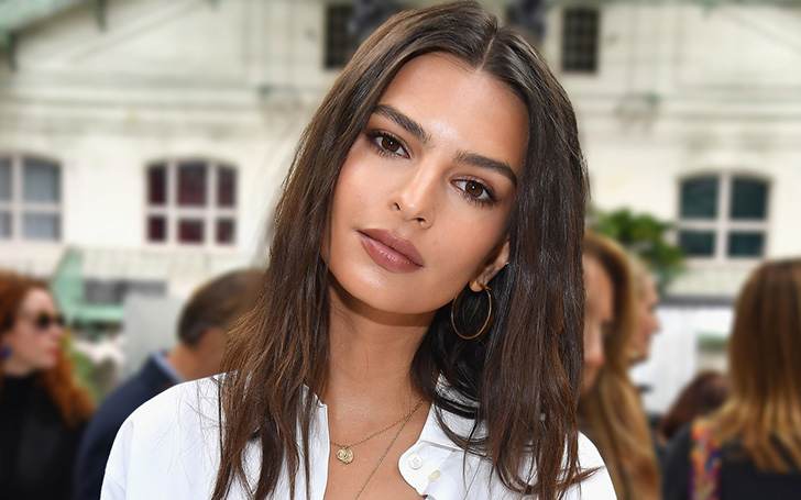 Emily Ratajkowski Flaunted Her Clevage In Yellow Gown While Attending Marc Jacobs Wedding