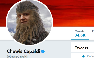Why Does Lewis Capaldi Keep Trolling Noel Gallagher? This Time Appearing On Stage In Chewbacca Mask!