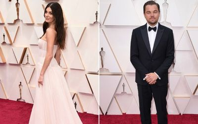 Camila Morrone Steps Out in a Wedding-y Dress at the 2020 Oscars Red Carpet with Boyfriend, Leonardo DiCaprio