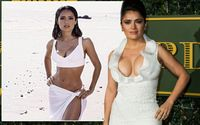 Full Details on Salma Hayek Breast Implants; Before and After Pictures