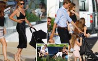 Abbey Clancy Showcased Her Trim Tum In A Stylish Black Crop Top Just Six Weeks After Giving Birth To Her Fourth Baby