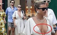 Sofia Richie Suffered An Unfortunate Wardrobe Malfunction On Monday As She Accidentally Exposed Her Boob Tape Whilst Going Braless With Her Beau Scott Disick