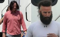 Is That Really Even Him?! Internet' Boyfriend Keanu Reeves Looks Unrecognizable As He Sports Beard and Mohawk for Bill & Ted Face The Music
