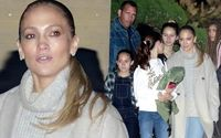 Jennifer Lopez and Alex Rodriguez Go House Hunting Before Taking The Kids To Dinner In Malibu