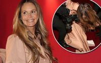 Elle Macpherson Left Red-Faced as She Falls Off a Stage in Vienna