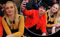 Sophie Turner and Joe Jonas Share a Public Kiss at a Knicks Game
