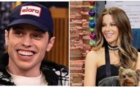 Kate Beckinsale and Pete Davidson Caught Kissing At 'The Dirt' Premiere