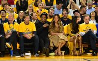 Beyonce And Jay Z Sit Courtside At NBA Finals While Metallica Performs Fiery National Anthem