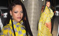 Rihanna Flaunted Her Lean Legs In Sexy Checkered Shorts And Matching Coat In Barbados