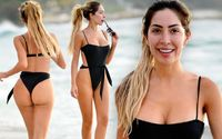 Farrah Abraham Showed Off Her Curves As She Hit The Beach In Puerto Vallarta In A Sexy Black Bathing Suit