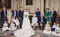 Princess Eugenie of York and Her Husband Jack Brooksbank Posing in the White Drawing Room