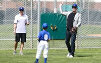 Ben Affleck Takes Son Samuel, 7, To Sunday Baseball Practice