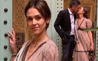Jessica Alba Stuns In Dior Dress As She Kisses Cash Warren While Celebrating Her 38th Birthday In Morocco